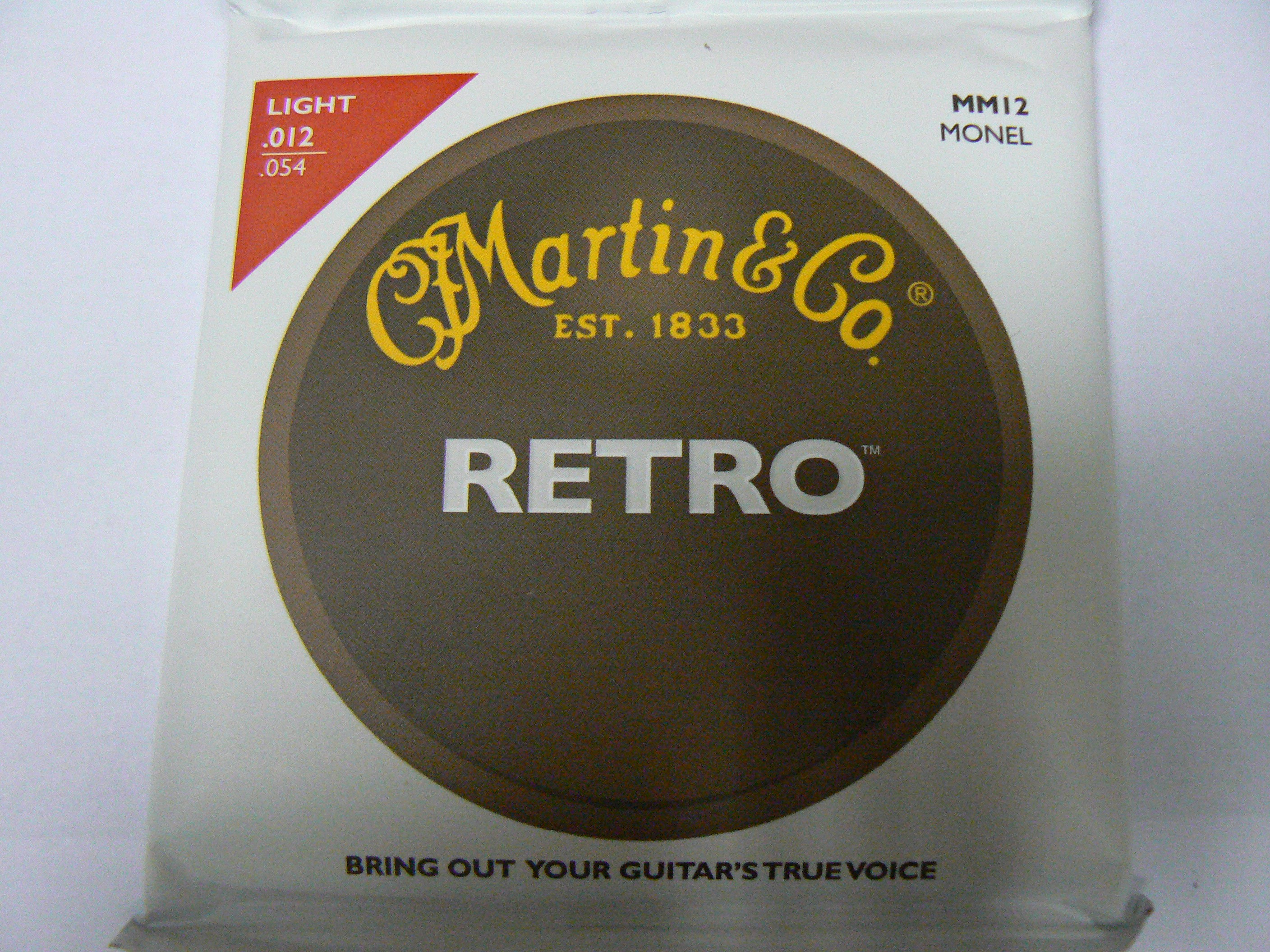 MARTIN MM12 Retro Acoustic Guitar Strings - nikl .012-.054